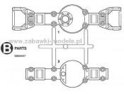 Ford F-350 Części B Tamiya 0004447