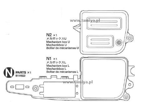 NDF-01 Obudowa elektroniki (części N1-2) Tamiya 9114029