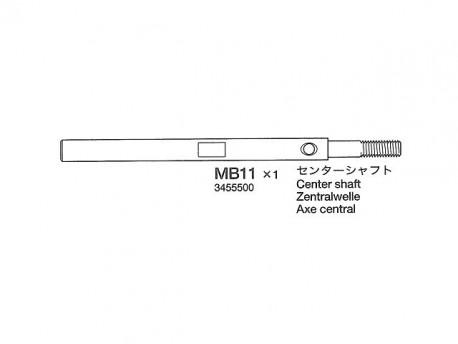 TA-04 * Wałek zębatki odbierającej Tamiya 13455500