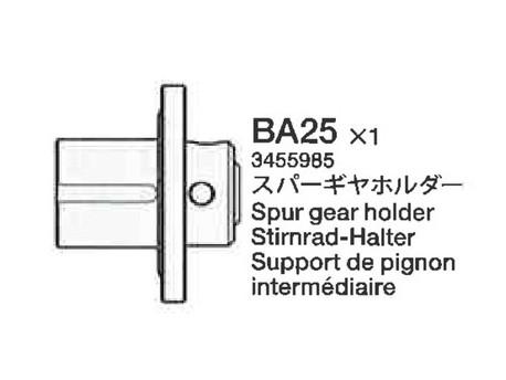 TA-05 Mocowanie zębatki odbiorczej Tamiya 3455985