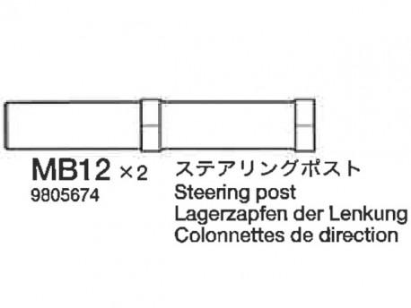 TA-04 Słupki układu kierowniczego Tamiya 9805674