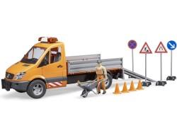 Zabawka Samochód drogowców MB Sprinter z figurką kierowcy