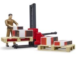 Zabawka Figurka kuriera UPS z paleciakiem