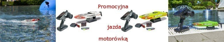 Zdalnie sterowane motorówki - promocja