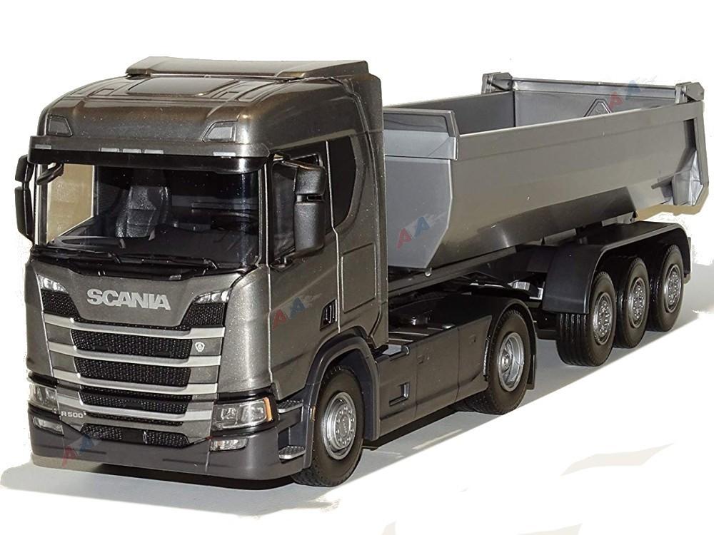 Wspaniały Emek 22483 Scania R500 NextG model ciągnika z naczepą wywrotką szar. AK04