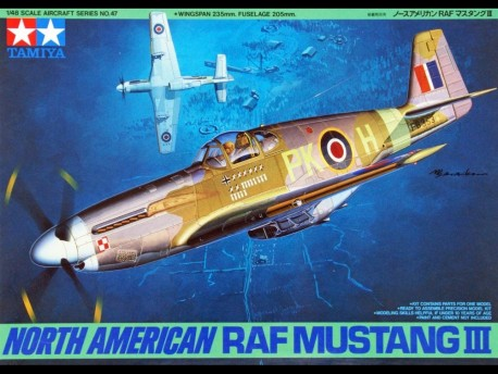 Tamiya 61047 148 NA RAF Mustang III model do sklejania