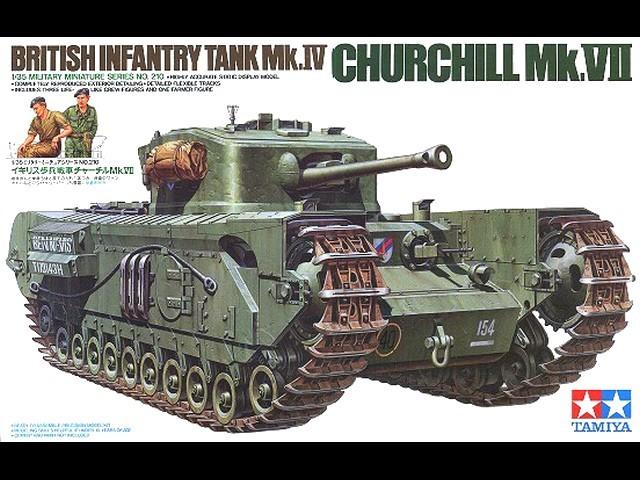 Model czołgu 1/35 Mk.IV Churchill Mk.VII Tamiya 35210