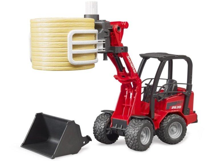 Zabawka Bruder 02192 Ładowarka Schaffer Hoflander 2034 z akcesoriami rolniczymi
