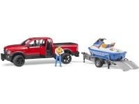 Zabawka samochód Dodge RAM 2500 Power Wagon z przyczepą, skuterem wodnym i figurką foto 5