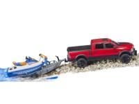 Zabawka samochód Dodge RAM 2500 Power Wagon z przyczepą, skuterem wodnym i figurką foto 6