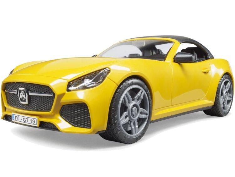 Zabawka Bruder 03480 Auto Roadster żółte ze zdejmowanym dachem