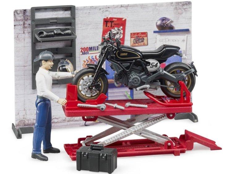 Zabawka Bruder 62101 BWorld Warsztat motocyklowy