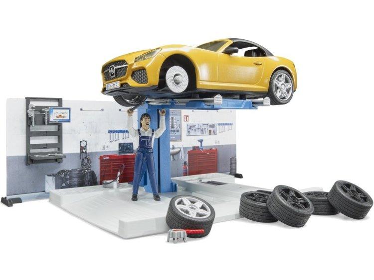 Zabawka Bruder 62110 BWorld Warsztat samochodowy z figurką